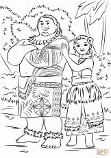 tui and sina from moana disney coloring pages printable and coloring book to print for free. Find more coloring pages online for kids and adults of tui and sina from moana disney coloring pages to print. Moana Coloring Pages, Coloring Pages To Print, Free Printable Coloring Pages, Free Coloring Pages, Coloring For Kids, Coloring Books, Coloring Sheets, Disney Printables, Online Coloring