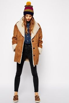 Vintage 70s Sheepskin Shearling Coat 0710W8 | Coats, Vintage and ...