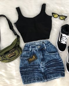 Outfits and flat lays we fell in love with. See more ideas about Casual outfits, Cute outfits and Fashion outfits. Fashion Trends, Latest Fashion Ideas and Style Tips. Casual Fashion Trends, Teen Fashion Outfits, Mode Outfits, Skirt Outfits, Outfits For Teens, Womens Fashion, Fashion Ideas, Denim Outfits, Fashion Patterns