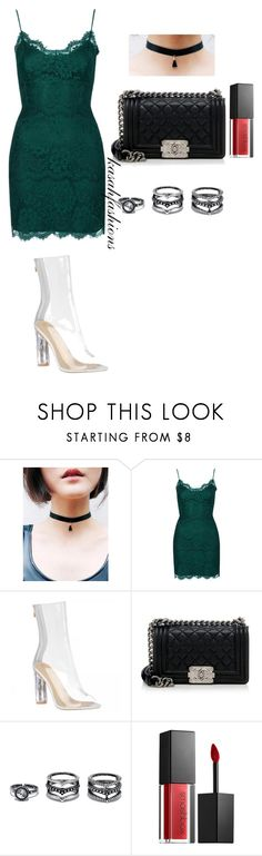 """""""perspex on lace"""" by kasahfashions on Polyvore featuring Topshop, Chanel, LULUS and Smashbox"""