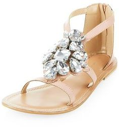Womens shell pink sandals / flip flops from New Look - £34.99 at ClothingByColour.com