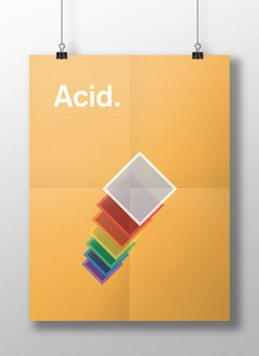 Meaghan Li's This Is Your Brain on Drugs, a series of minimalist posters created for the designer's psychology class