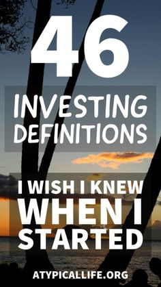 46 Investing Definitions I Wish I Knew Getting Started Atypical Life - Stock Market For Beginners - Info of Stock Market For Beginners - 46 investing terms you need to know to get started in the investing world. Stock Market Investing, Investing In Stocks, Investing Money, Money Tips, Money Saving Tips, Stock Market For Beginners, Bollinger Bands, Dividend Investing, Planning Budget