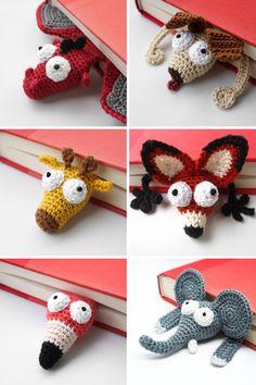 Crochet Bookmark Pattern, Crochet Bookmarks, Crochet Patterns Amigurumi, Crochet Blanket Patterns, Crochet Stitches, Crochet Gifts, Cute Crochet, Crochet Toys, Knit Crochet