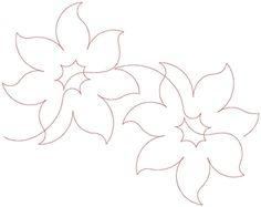 Lorien Flowers Pantograph by Lorien Quilting LQPANTO110EMB42A
