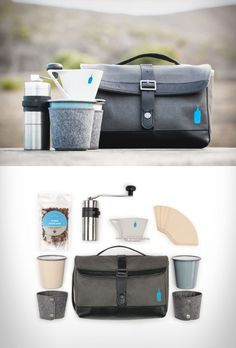 Timbuk2 x Blue Bottle Travel Coffee Kit