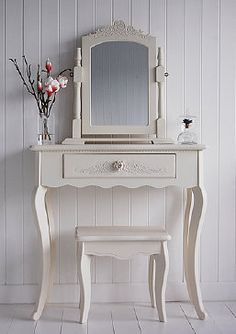 Cream dressing table to match the bedside table