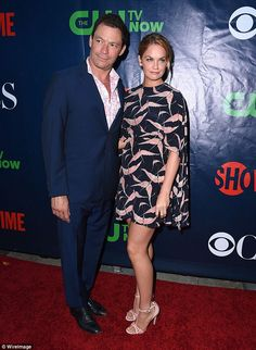 Pins on parade: The 33-year-old actress showed off her toned legs in a mini-dress with a u...