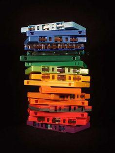 cassettes de colores
