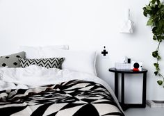 Beautiful bedroom pieces from Sydney based online store The Minimalist.  Photo - Chris Warnes, styling – Sarah Ellison. Via @The Design Files
