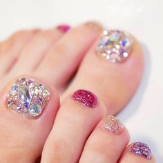 :: · · · · · · Moth Moth Foot design ✧ * that won the most cute ♡ by June 17 (Mon) to 23 (Sun), 20 . Pedicure Designs, Toe Nail Designs, Nail Swag, Pretty Toe Nails, Korean Nail Art, Fancy Hands, Gem Nails, Best Acrylic Nails, Pedicure Nails