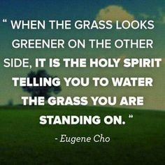 Grass greener on the other side, water your grass!