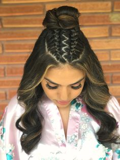 20 Best Variations Of A Two Braided Hairstyles Top Knot For Your Distinctive Style 20 Best Variations Of A Two Braided Hairstyles Top Knot For Your Distinctive Style New Hairstyles 2019 Save Images New Hairstyles 2019 Braided Top Knot Two Ways To Wear It Cute Hairstyles For Teens, Sporty Hairstyles, Baddie Hairstyles, Teen Hairstyles, Curly Hair Styles, Natural Hair Styles, Braided Top Knots, Hair Upstyles, French Braid Hairstyles