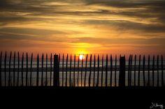Sunset Biscarrosse Beach, France