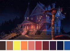Colour palette for Coraline Dir. Movie Color Palette, Colour Pallette, Color Palate, Famous Movie Scenes, Famous Movies, Iconic Movies, Color Script, Cinema Colours, Color Studies
