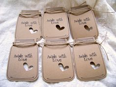 18 Mason Jar Kraft GiftFavorWedding Tags by JsCraftyStudio on Etsy, $8.00