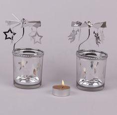 Γυάλινα ρεσώ καρουζέλ εποχιακά NewMan | bombonieres.com.gr Candle Holders, Candles, Christmas, Xmas, Porta Velas, Candy, Navidad, Noel, Candle Sticks