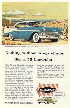 '56 Chevrolet Bel Air Sport Sedan Ad