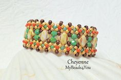 Show everyone what you CAN create with this easy to follow, step by step Single Needle Technique tutorial for my new design Cheyenne Beadwoven Bracelet with Silky Beads!!  This bracelet is a fun and surprisingly a simple project that creates quite a statement when finished! You will need size 11 seed beads,Silky beads, size 8 seed beads in 3 different colors, firepolished beads, size 15 seed beads and a 3 strand tube slide bar.  You can use the colors shown, they are said in the tutorial…
