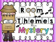 Room Themes - It's a Mystery Ultimate {Detectives} Brights from Chalk One Up for the Teacher