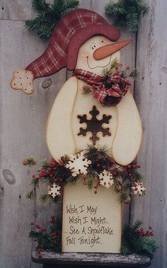 snowman tole paintings free | Decorative Woodcraft & Tole Painting Pattern Packets by Heidi Markish ...
