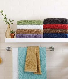 Better Homes And Gardens Thick And Plush Jacquard Bath Towel Collection |  Boost Your Bathroom | Pinterest | Plush, Towels And Bath