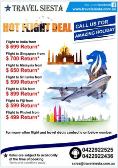 Are looking for International holidays from Australia? Travel Siesta is a leading Australia based tour operator offering wide range of international holiday packages Cheap International Flights, International Holidays, Flight Tickets, Airline Tickets, Book Cheap Hotels, Cheap Air Tickets, Cheap Airlines, Holiday Packages