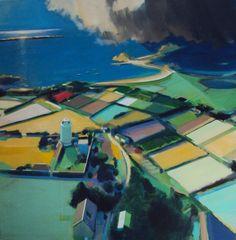Alasdair Lindsay, St. Agnes Lighthouse, Isles of Scilly, 100 x 100cm, acrylic on canvas, £2500.