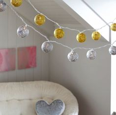 I found these cute string lights on PBteen!