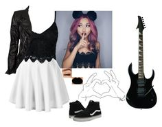 """I want this guitar so much...I emailed my mom like three times with the link...oops..."" by lifesucks-musichelps ❤ liked on Polyvore featuring Vans and Marc Jacobs"