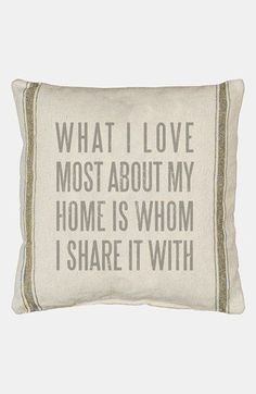 Primitives by Kathy 'What I Love Most' Pillow available at #Nordstrom