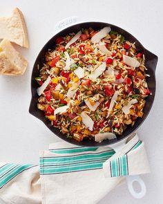 Caramelized Veggies & Orzo Skillet   Kitchn