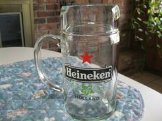Heineken Beer Mug, Large Heineken Mug, Vintage Beer Mug   >>>> Please buy something from my friends Etsy store. She could use the money. Her and her husband are raising 5 unwanted rescue dogs including a 3 legged Chiahuahua. Please help.