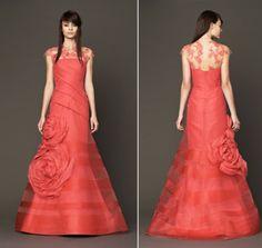Vera Wang's Pink Wedding Dresses