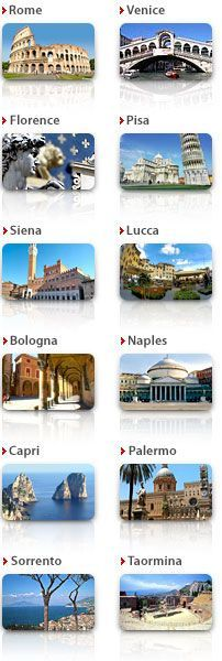 ItalyGuides.it: A virtual travel in Italy - Map of Italy.Am so lucky to have been to most of these places.
