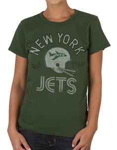 Women's New York Jets '47 Brand Black Courtside Long Sleeve T-Shirt