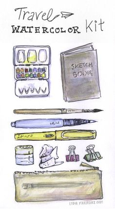 Travel Watercolor Kit http://www.lydiamakepeace.com/blog/travel-watercolor-kit