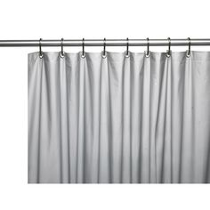 Carnation Home Hotel Collection, 8 Gauge Vinyl Shower Curtain Liner W/  Weighted Magnets And