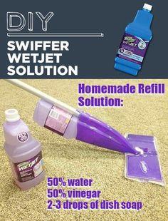 Never Buy Refill Solution For Your Swiffer Wet Jet.  Easy Homemade Solution.