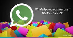 Heb je vragen over de PlayNow box? Je kan ons nu ook bereiken via WhatsApp! We appen! #PlayNow
