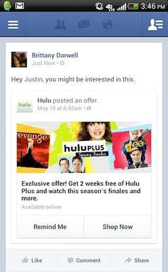 Facebook brings new Offers format to Android