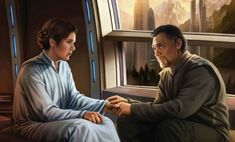 Magali Villeneuve Star Wars | Leia and Bail Organa in the latter's study