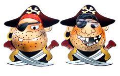Vanavond eten we piraat...jammie.... Gelukkig zijn deze piraten gemaakt van chocolade en zitten er geen botjes in. Leuk voor een piratenfeestje of voor een piraten traktatie. www.creakelder.nl