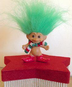Vintage Russ Christmas Troll Doll Santa Elf by ChicHippyVintage, $8.00