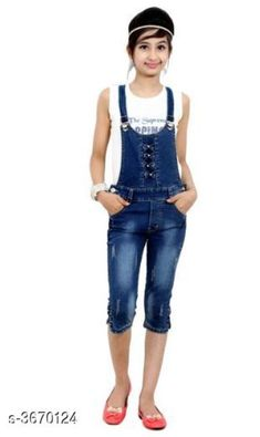 Dungarees Elegant Cotton Lycra Denim Kid's Dungaree Fabric: Cotton Lycra Denim Sleeves: Sleeves Are Not Included Size: Age Group (3 - 4 Years)  Waist - 22 in Age Group (4 - 5 Years)  Waist - 22 in Age Group (6 - 7 Years)  Waist - 23 in Age Group (7 - 8 Years)  Waist - 24 in Age Group (9 - 10 Years)   Waist - 25 in Age Group (10 - 11 Years)   Waist - 26 in Age Group (11 - 12 Years)   Waist - 27 in Age Group (12 - 13 Years)   Waist - 28 in Age Group (13 - 14 Years)  Waist - 2.5 in Type: Stitched Color: Blue Description: It Has 1 Piece Of Kid's Capree Dungaree Pattern: Solid Country of Origin: India Sizes Available: 3-4 Years, 4-5 Years, 5-6 Years, 6-7 Years, 7-8 Years, 8-9 Years, 9-10 Years, 10-11 Years, 11-12 Years, 12-13 Years, 13-14 Years   Catalog Rating: ★4.1 (6113)  Catalog Name: Cutiepie Elegant Cotton Lycra Denim Kid's Dungarees Vol 1 CatalogID_512132 C62-SC1152 Code: 865-3670124-