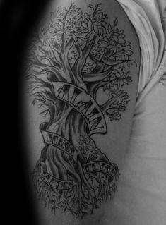60 Family Tree Tattoo Designs For Men - Kinship Ink Ideas Pine Tattoo, Tree Tattoo Men, Tree Tattoo Designs, Tattoo Ideas, Tree Wallpaper Interior, Tree Of Life Artwork, Tattoos Familie, Christmas Tree Drawing, Birch Tree Wedding
