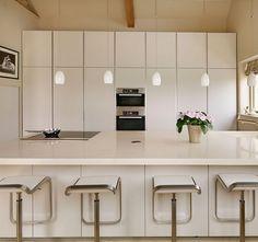 Simple, sleek modern #kitchen design.