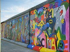 Graffiti op de oude Berlijn muur