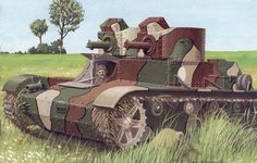 Polish 7TP | Art, field, grass, 7tp, polish, two-tower, light, tank, 1930, armed ...pin by Paolo Marzioli