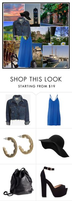 """""""Macedonia"""" by jeniaa ❤ liked on Polyvore featuring rag & bone/JEAN, Alice + Olivia, House of Harlow 1960, MANGO and H&M"""